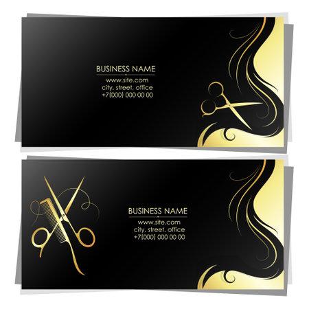 Unique design business card for beauty salon 向量圖像
