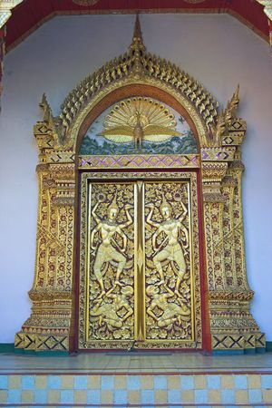 mai: Phrathat Doi Suthep, door detail, outskirts of Chiang Mai Chiang Mai Province Thailand Asia