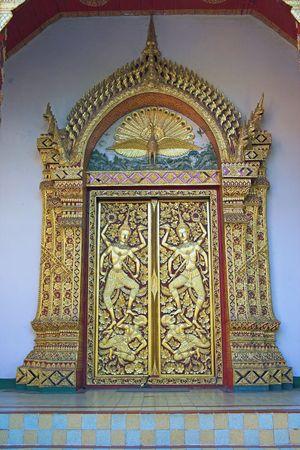doi: Phrathat Doi Suthep, porta dettaglio, periferia di Chiang Mai Chiang Mai Provincia Tailandia Asia