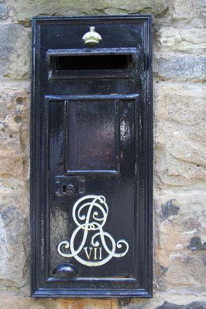 mailed: A rare Edward VII black postbox  Stock Photo