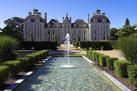 loire: Chateau de Cheverny, Loire, France Stock Photo