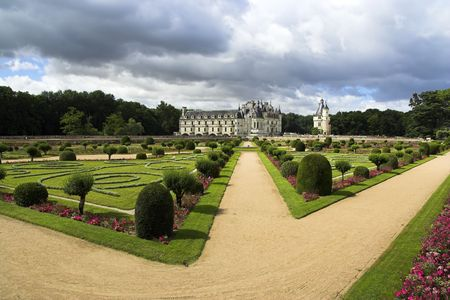 loire: Chateau De Chenonceau, Loire Valley, France Stock Photo