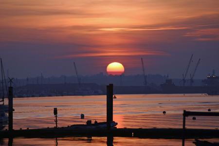 burnham: Sunset over river