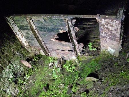 derelict: Derelict railway wagon in tunnel