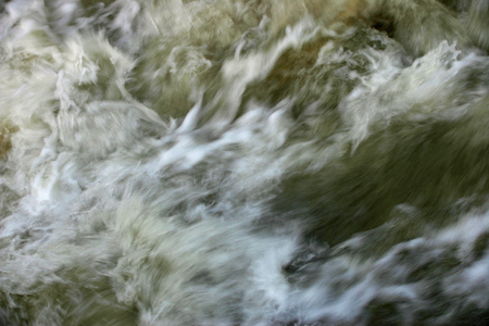small articles: Moving floodwater Stock Photo