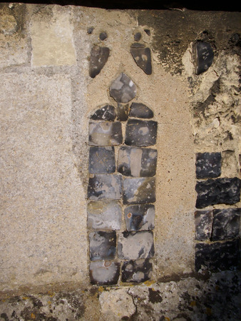 flint: Ornamental flint in church wall