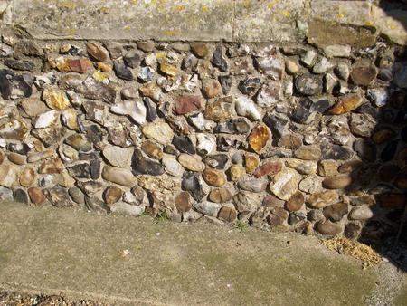 ecclesiastical: Flint in church wall
