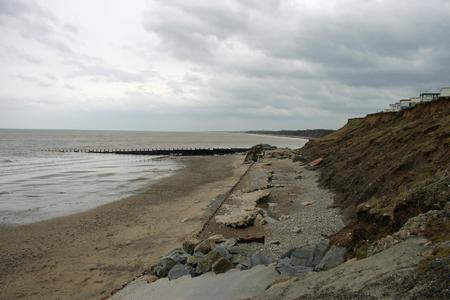 damaged: Damaged sea defences