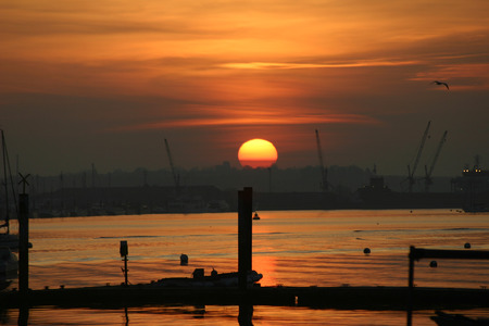 burnham: Sunset at Burnham on Crouch, Essex