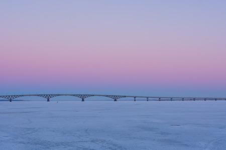 volga river: Sunset on the Volga river.
