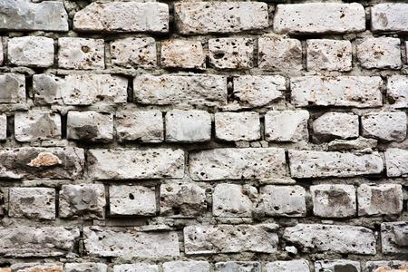 paredes de ladrillos: ladrillo viejo de ladrillos blancos.