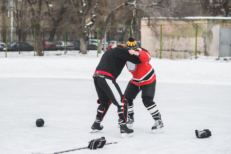 icehockey: Hockey fans gathered at the stadium to play