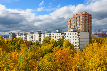 The view from the window on the Chertanovo in Moscow in autumn