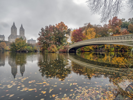 Bow Bridge in New York City, Central Park Manhattan