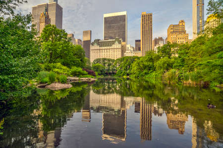 At he lake in Central Park, New York City, Manhattan