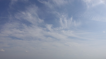 Clouds in the sky. Various shapes, sizes, and scenes.