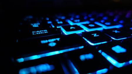 Gaming Keyboard Blue Lights Shift Key