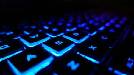 Desktop Gaming Keyboard Diagonal Angle