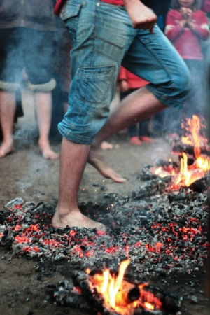 Walking on Hot Coals without shoes