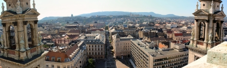 stephen: Budapest Panorama da Santo Stefano Archivio Fotografico