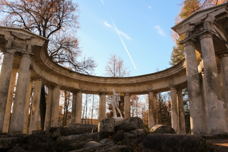 Apollo colonnade in Pavlovsk Park at Golden Autumn Time photo