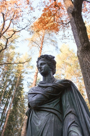 muse: Polyhymnia Statue  The Muse in Pavlovsk Park  Golden Autumn