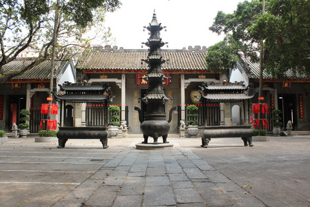 candleholders: View with Lin Fung Temple   Temple of Lotus  in Macau on April 2014
