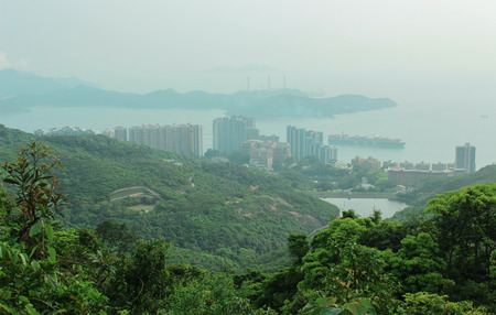 View of Hong Kong and Lamma Island from Victoria  Peak on April 2014