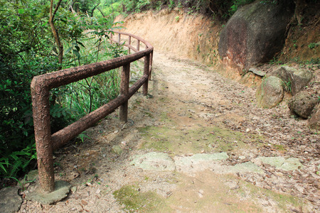 Tracking way in Coloane Park in Taipa, Macao on april 2014 photo