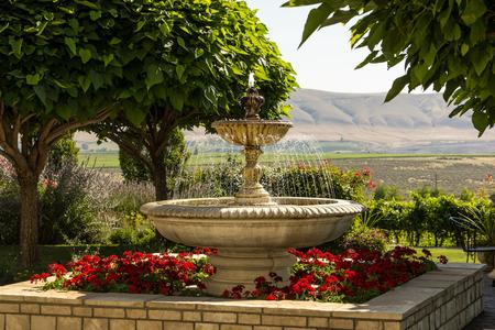 garden fountain: Large garden fountain Stock Photo