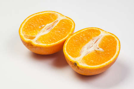 Cut orange Stock Photo