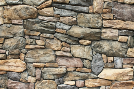 masonary: Neatly fitted, tightly constructed stone wall near Glacier National Park in Whitefish, Montana