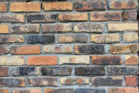 masonary: Weathered brick wall near Glacier National Park in Whitefish, Montana Stock Photo