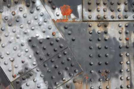steel girder: Industrial steel girder background with rivets, rust and weathered paint