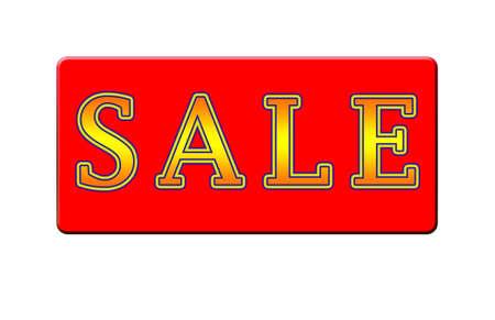 売却の記号 - 黄色と赤