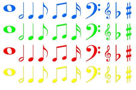semiquaver: Musical Symbol Collection