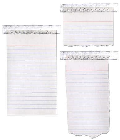 メモ帳紙のリッピングし、録音。 写真素材