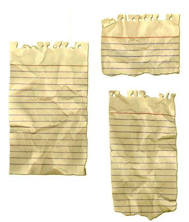 Note Paper old, ripped and wrinkled Reklamní fotografie