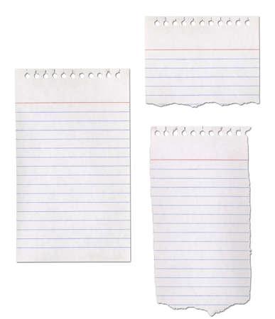 紙のメモ帳のコレクション - リッピングします。
