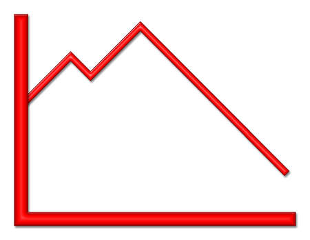 graph with downward trend Stock Photo - 2781414