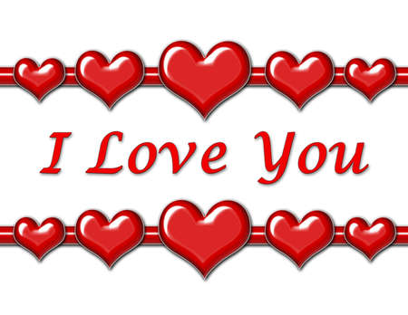 I Love You Greeting with Hearts