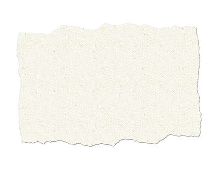 Ripped canvas background illustration on white