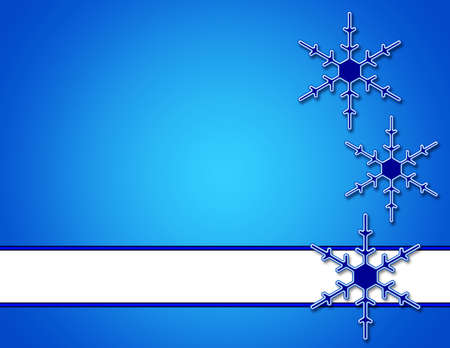 Blue Background with Snowflakes and white banner area