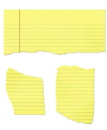 Yellow legal pad paper - ripped
