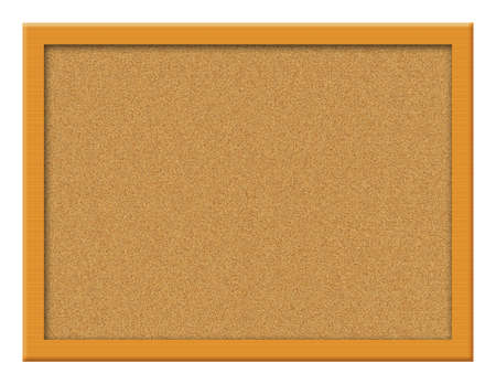 Cork board illustration blank for text and images