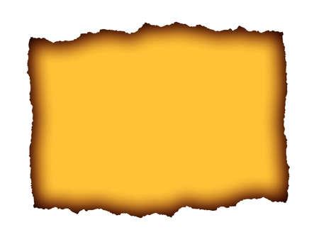 Burnt paper illustration blank for text