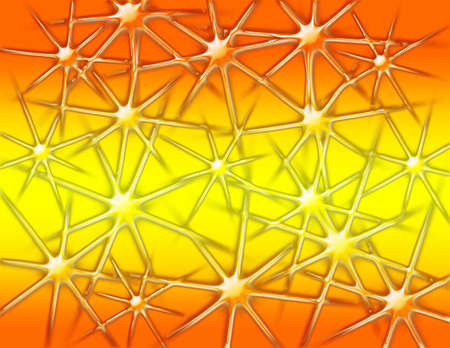 Abstract background with shiny stars and orange and yellow gradient photo