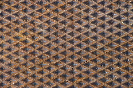 Rusty metal diamond pattern background