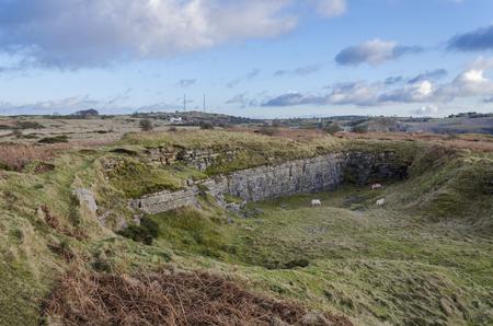 北ウェールズのハルクリン山に放棄され、廃棄された採石場の遺跡。