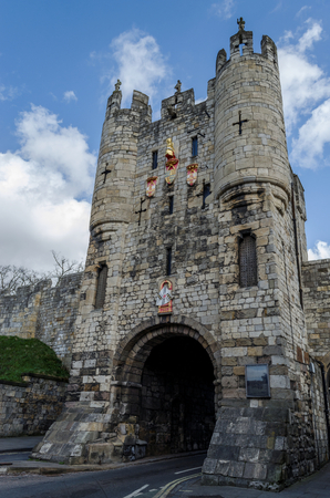 Micklegate Bar is one of the gates of the Roman Walled city of York